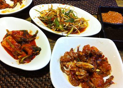 韓国料理の小皿
