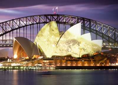 シドニーを代表するオペラハウスとハーバーブリッジ