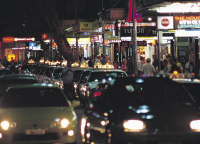 キングスクロスの繁華街