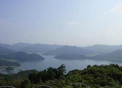 久賀島の展望台から観た風景