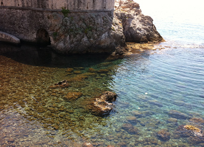 アドリア海の綺麗な水