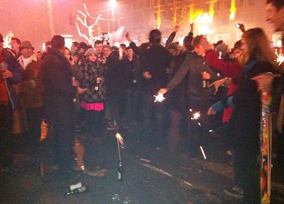 ベルリン、年末の素人花火