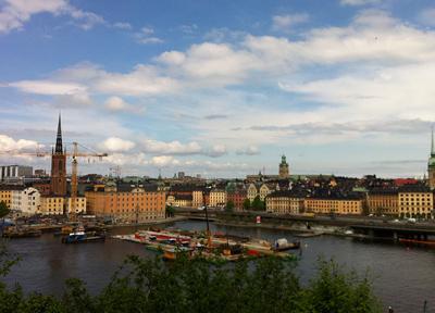 24時間明るい夏のスウェーデン