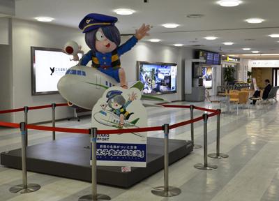 米子空港の「鬼太郎」オブジェ