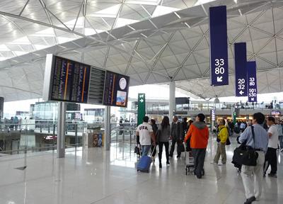 香港国際空港のターミナル