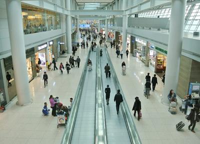 韓国・仁川国際空港のターミナル