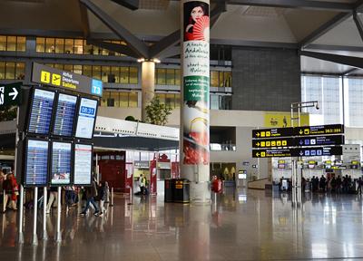 スペイン・マラガ国際空港のターミナル