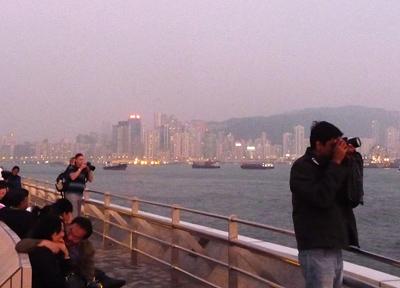 香港の夜景スポット、九龍半島にて