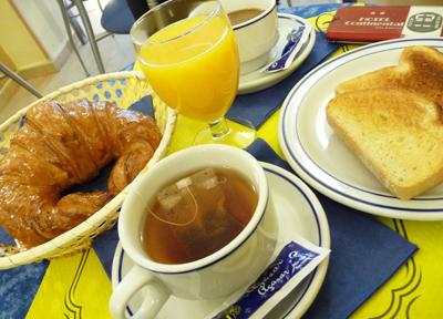 スペイン ホテル朝食
