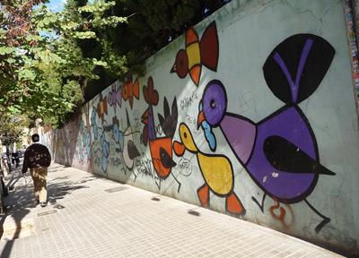 バレンシア アート壁