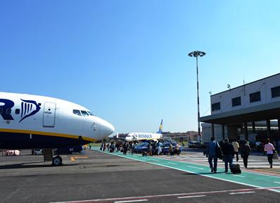 イタリア・ローマのチャンピーノ空港