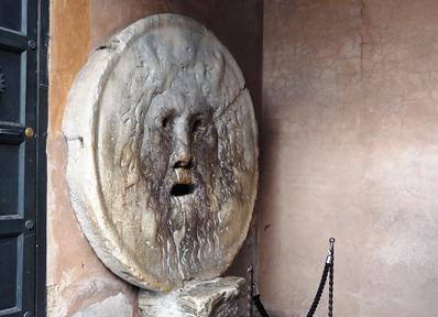 「ローマの休日」に登場した真実の口