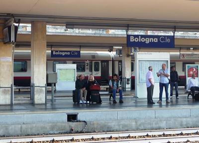 ボローニャ中央駅のホーム