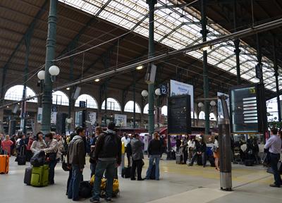 パリ北駅の構内