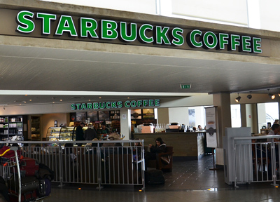 パリ・シャルルドゴール空港のスターバックスコーヒー