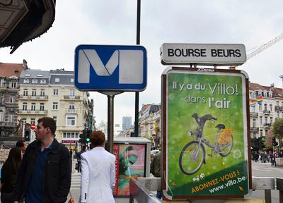 ブリュッセルは「メトロ」が便利