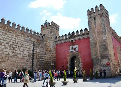 アルカサル(王宮)とライオンの門