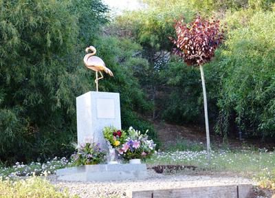 ヘレス・サーキットにあるフラミンゴ像