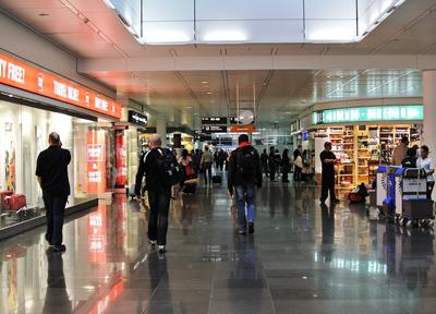 ミュンヘン国際空港のターミナル内