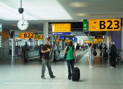 オランダ・アムステルダム スキポール空港