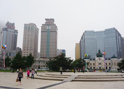 朝散歩 中国・大連
