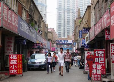 街歩きの準備 中国・大連