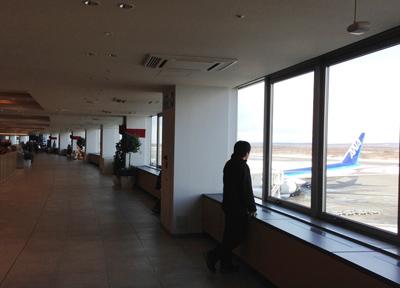 新千歳空港のフードコート前