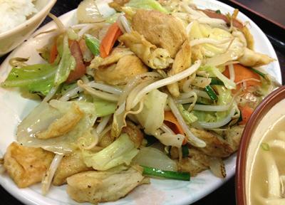 沖縄料理の豆腐チャンプルー