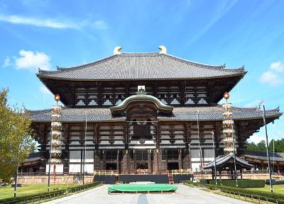 世界最大級の大きさを誇る東大寺の金堂