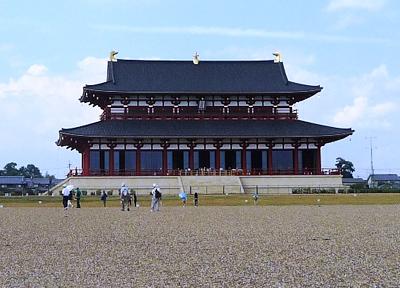 平城京跡に再建された大極殿
