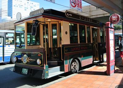 仙台駅から出発する観光循環バス「る〜ぷる仙台」