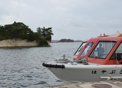 松島のクルーズ船