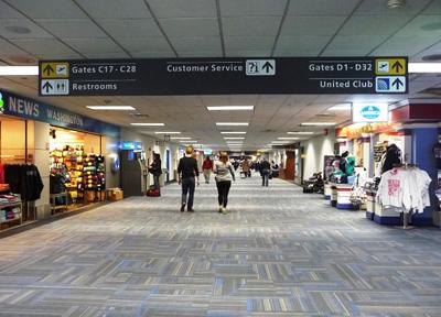 ダレス国際空港のモービルラウンジ