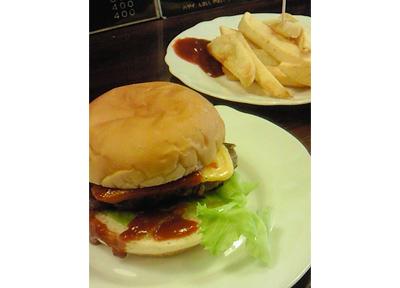 老舗ハンバーガー