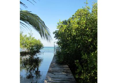 ベリーズ・キーカーカー島 真っ青な海を独り占め