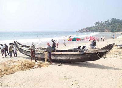 南インドのインド洋側のビーチ